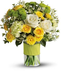 Your Sweet Smile yellow and green flowers by Teleflora