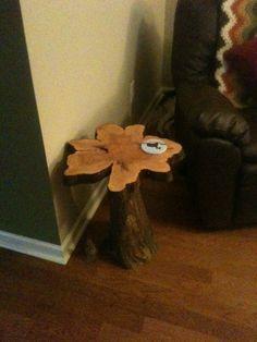 Cypress knee side table!