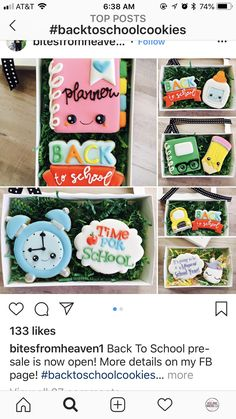 336 Best Back To School Decorated Cookies Images On Pinterest