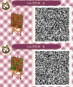 Red Brick Ivy Stone Path - Animal Crossing New Leaf QR Code