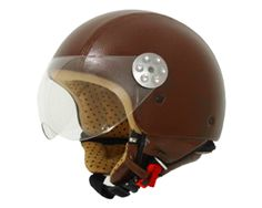 Outlet Casco Moto - CASCO MT RETRO PIEL MARRON Ref:4702
