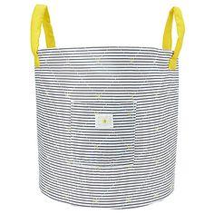 Buy John Lewis Striped Nursery Storage Bag, Grey/Yellow Online at johnlewis.com