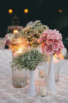 Pretty in #pink - beautiful flowers makes a beautiful centerpiece! {Sam Gregory Photography}