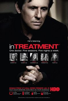 In Treatment is an American HBO drama, produced and developed by Rodrigo Garcia, about a psychologist, 50-something Dr. Paul Weston, and his weekly sessions with patients, as well as those with his own therapist at the end of the week. The program, which stars Gabriel Byrne as Paul, debuted on January 28, 2008, as a five-night-a-week series and ran for 3 seasons.
