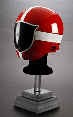 Red Ranger Helmet. I want it! I'm going to cosplay as a female red Lightspeed someday. Gender swap this classic red ranger! Pink