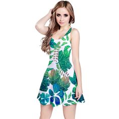 Feel cool, calm, and coastal in this beautiful dress inspired by the flora and fauna of the tropics. Coastal Flora Dress Reversible Sleeveless Dress.  Dance freely in the breeze with this fully customizable sleeveless dress. Its light and flowy material is fitted at the top and has a slight flare at the bottom, giving your body a flattering shape. It's perfect to be worn on its own or layered under a cardigan when the weather gets a bit chilly. You can even wear this dress in 2 ways, with…