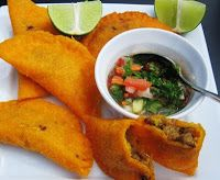 Colombian Empanadas--not to be biased but out of all the ones I've tried, we have the best.Cuban empanadas are close tho ; My Colombian Recipes, Colombian Cuisine, Colombian Dishes, Mexican Food Recipes, Ethnic Recipes, Comida Latina, Latin Food, Recipe Of The Day, Burritos