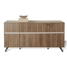 J & K Walnut Modern Storage Credenza | Overstock.com Shopping - The Best Prices on Credenzas Dimensions: 63 inches wide x 17 inches deep x 32 inches high