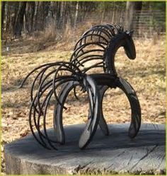 ... horses made from recycled