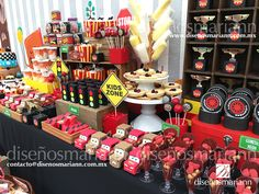 Mesa de dulces Cars/Cars candy bar/Cars birthday ideas/Cumpleaños Cars