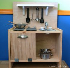 DIY IKEA Rast Play Kitchen
