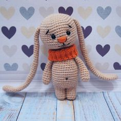 Amigurumi bunny with big ears free crochet pattern