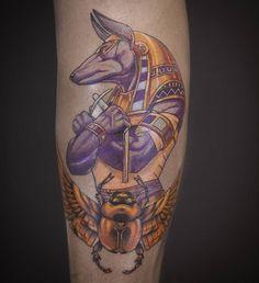 tattoo by Melek Taştekin. #tattoo #tattoos #tattooing #tattooist #tattooer #tattooed #tattoomagazine #legtattoo #melektastekin #melektaştekin #tattoohouse #anubis #anubistattoo #anpu #egypttattoo #pharaoh #colortattoo #art #artwork #colortattoos #ink #inked #tattooart #tattooartist #instatattoo #god #godtattoo #tats #tatu