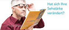 Ihre Sehstärke hat sich verändert! Der Klassiker: Ihre Sehstärke Ihrer Einstärken-, Gleitsicht- oder Sonnengläser hat sich verändert und Ihre Brillenfassung ist noch aktuell. Egal ob Sie diese Brille für die Fernsicht, zum Lesen oder als Gleitsichtbrille nutzen - meinbrillenglas.de verglast Ihre eigene Brille mit den neuen Sehstärken schnell und preiswert. #brillengläser #gleitsichtgläser #sonnengläser