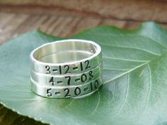 Stacking Name Rings Name Rings Personalized by namejewelrydesigns, $29.00