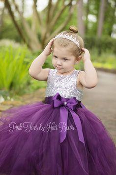 6ce5e2e1e Flower girl dress-birthday dress-plum flower girl dress-silver sequin dress-fall  flower girl dress