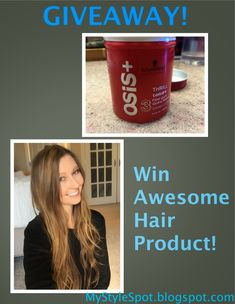 MyStyleSpot: Your Hair Needs This: Schwarzkopf OSIS Thrill Texture Fiber Gum Review + GIVEAWAY #contest #win #schwarzkopf #osis #fibergum #thrill #texture #styling #cream for #hair #beauty #mystylespot #blogger #review #sweeps #Hairproduct