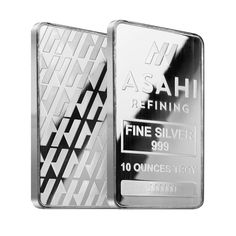 Lot of 2 - 10 oz Asahi Silver Bar .999 Fine Sealed