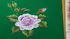 Pintar rosas grandes. para decorar un paraguas. Painting roses to decora...