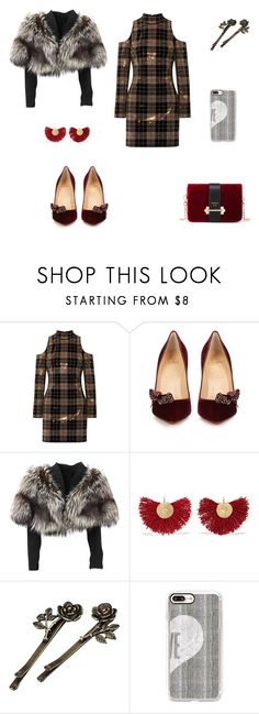 """Sans titre #1977"" by wali-emna ❤ liked on Polyvore featuring Balmain, Christian Louboutin, Lolita Lempicka, Katerina Makriyianni and Casetify"