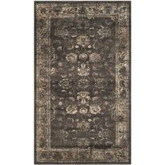 Safavieh Vintage Soft Anthracite Viscose Rug (5'3 x 7'6) - Overstock™ Shopping - Great Deals on Safavieh 5x8 - 6x9 Rugs