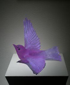 """Lukeke Bird Soaring (Lilac)"" : Luke Jacomb & Katherine Rutecki of Lukeke Design Purple Art, Purple Love, All Things Purple, Purple Glass, Shades Of Purple, Vases, Art Of Glass, Glass Figurines, Murano"