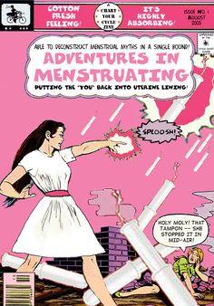 Retro cartoon advertisement. #retro #vintage #ad #femcare #femininehygiene #menstruation #period