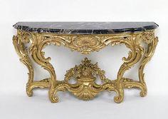 1750-1755 French Console table at the J. Paul Getty Museum, Los Angeles - From…