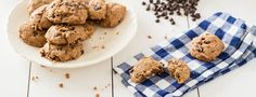 Even though they are soft-baked, these vegan chocolate chip cookies are not cake-like at all (as lower-fat cookies tend to be). They're delicious!