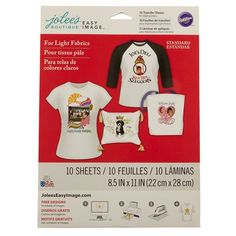 Jolee's Boutique Iron-on Transfer Paper for White Fabric