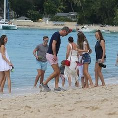Dragons Den Peter Jones takes his family in a boat ride in Barbados
