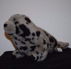 Grey Plush Spotted Seal Sea Lion Stuffed Animal Wild Republic  #WildRepublic