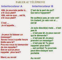 Et maintenant par groupe de 2 ou 3 , inventez une petite conversation téléphonique !!