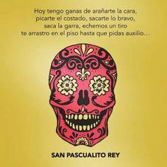 Hoy tengo ganas de arañarte la cara, picarte el costado, sacarte lo bravo, saca la garra, echemos un tiro te arrastro en el piso hasta que pidas auxilio... San Pascualito Rey Doodle Art, Huichol Art, Sugar Skull Art, Sugar Skulls, Skull Illustration, Day Of The Dead Skull, Gold Skull, Mexican Folk Art, Mexican Skulls