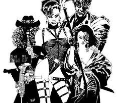 Sin City art by Frank Miller Comic Book Artists, Comic Book Characters, Comic Artist, Comic Books Art, Comic Character, Frank Miller Sin City, Frank Miller Art, Rodrigo Santoro, Sin City Comic