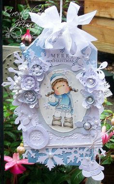 Tilda with snow heart, Sweet Christmas dreams collection, Magnolia stamps