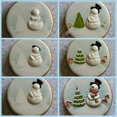 "881 curtidas, 29 comentários - Mezesmanna (@mezesmanna) no Instagram: ""DIY #snowman #christmas #christmascookies #winter #cute #lovely"""