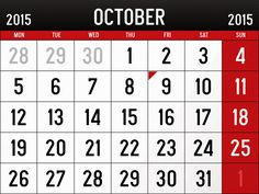 October 2015 Calendar Thanks Giving - In this Post we're sharing ...