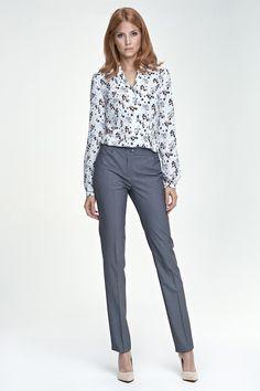da0604a94ff0f Pantalon fuselé élégant, gris Ceinture, Femme, Vêtements Professionnels,  Casual Chic, Travail. Mademoiselle Grenade