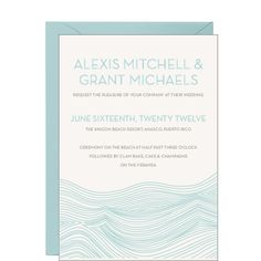 Waves Wedding Invitation - Alexis & Grant super cool and clean look