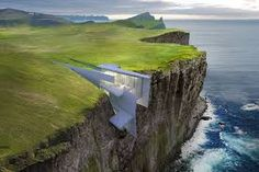This Icelandic Retreat is a True Cliffhanger, Guaranteeing a Spectacular Ocean View Futuristic Home, Futuristic Architecture, Amazing Architecture, Cliff Hotel, Concept Home, Unique Photo, Decoration, Building A House, Backdrops