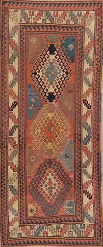 Pre1900 Vegetable Dye Antique Kazak Caucasian 9 Ft Russian Runner Rug Wool 4 X9 8 7 X 3 7 Wool Area Rugs Oriental Area Rugs Garland Rug 9 ft runner rugs