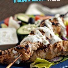 Grilled Chicken Tzatziki Salad {Hello Summer} I Heart Nap Time | I Heart Nap Time - How to Crafts, Tutorials, DIY, Homemaker