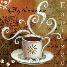Shop for Portfolio Canvas Decor Elena Vladykina 'Coffee Break Americano' Framed Canvas Wall Art (Set of Get free delivery On EVERYTHING* Overstock - Your Online Art Gallery Store! Coffee Is Life, I Love Coffee, Best Coffee, Coffee Break, My Coffee, House Coffee, Morning Coffee, Coffee Artwork, Café Chocolate