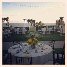 Yellow & green beach wedding.
