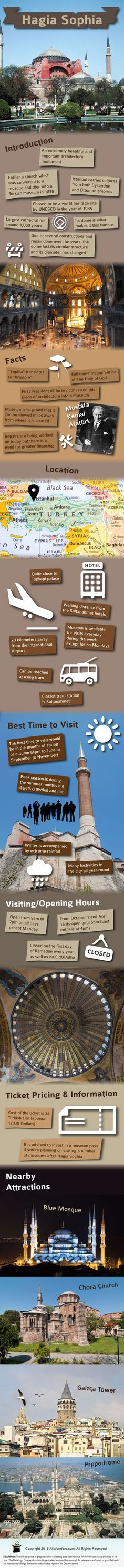 Hagia Sophia Infographic - Gather information about Hagia Sophia through this infographic.