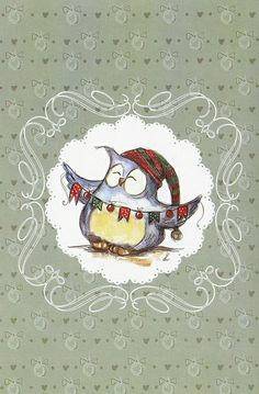 Owl Painting by Christina Afanasenkova Pinned by www.myowlbarn.com