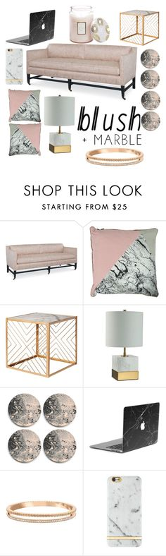 """blush+marble"" by sophiasummerell ❤ liked on Polyvore featuring interior, interiors, interior design, home, home decor, interior decorating, JULIANNE, Nate Berkus, Swarovski and Voluspa"