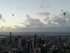 Hot air balloon Melbourne sunrise