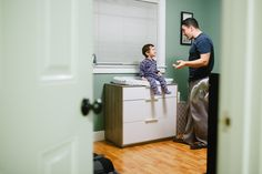 Deep father and son conversation - Family Documentary Photography